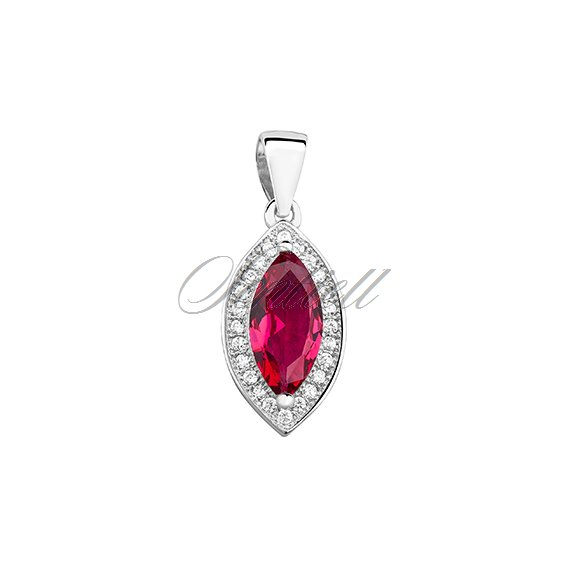Silver (925) pendant with ruby zirconia