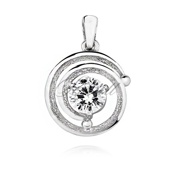 Silver (925) pendant with white zirconia