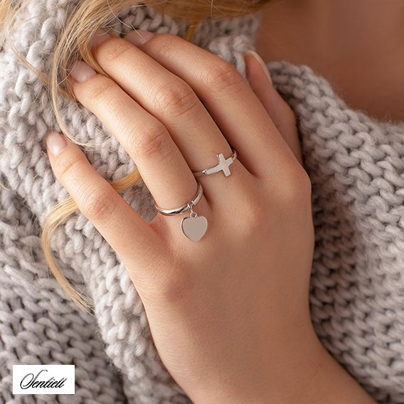 Silver (925) ring - heart