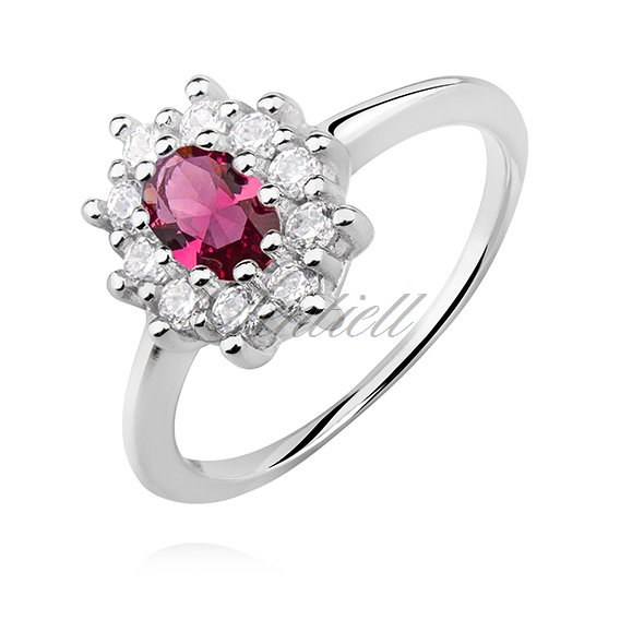 Silver (925) ring with ruby zirconia