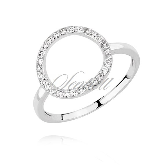 Silver (925) ring - with zirconia