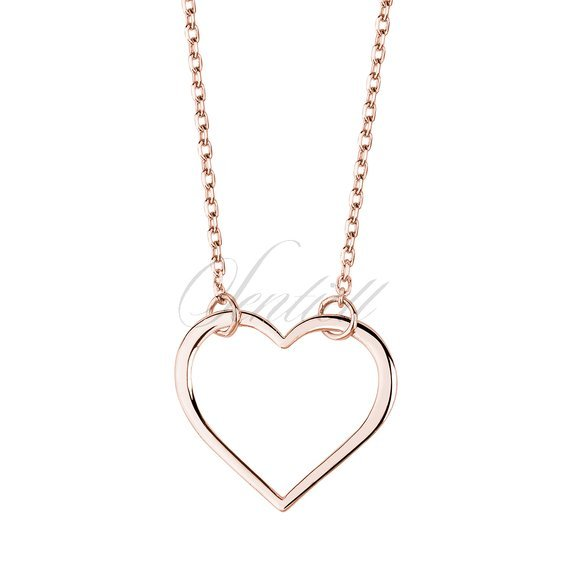 Silver (925) rose gold-plated necklace heart