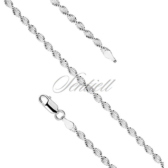 Silver (925) twisted chain necklace