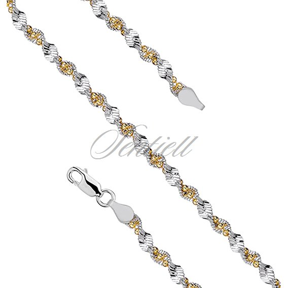 Silver (925) twisted chain necklace with balls Ø 040 weight from 10,0g
