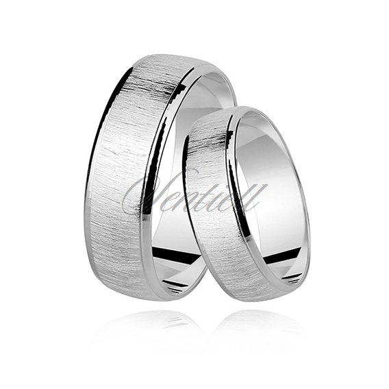 Silver (925) wedding ring, satin