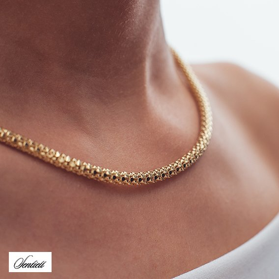 Silver chain (925) Coreana gold plated