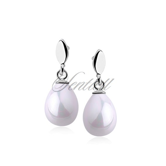 Silver earrings 925 tears - pearl