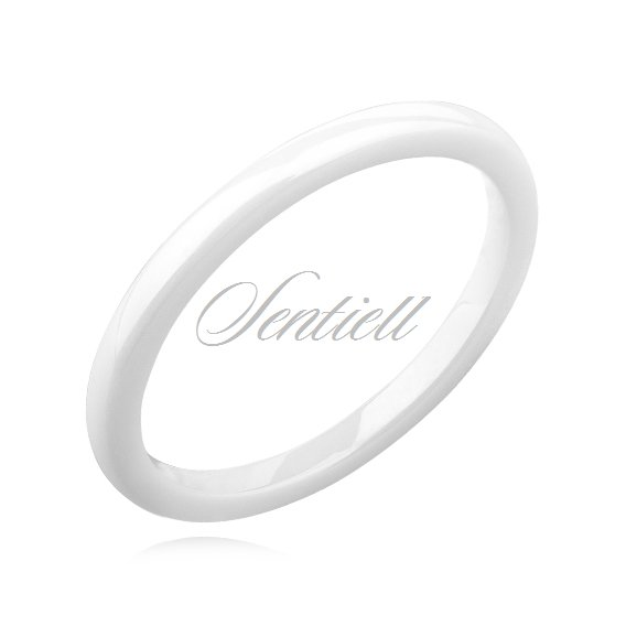 White ceramic ring 2mm