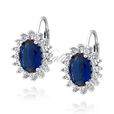 Silver (925) Earrings sapphire zirconia