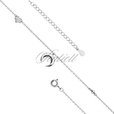 Silver (925) anklet - adjustable size with moon and star pendant