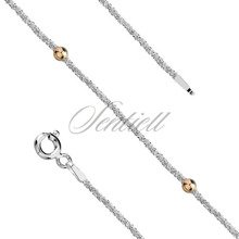 Silver (925) bracelet with gold-plated balls