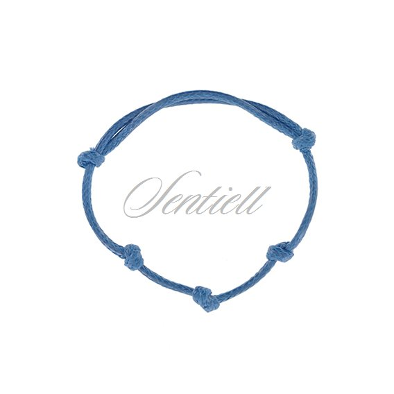 Base bracelet for flat charms - light blue polished