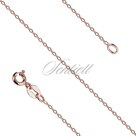 Silver (925) Anchor chain, rose gold-plated