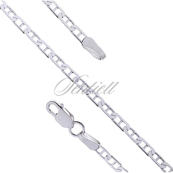 Silver (925) Anchor chain with stud links  Ø 060