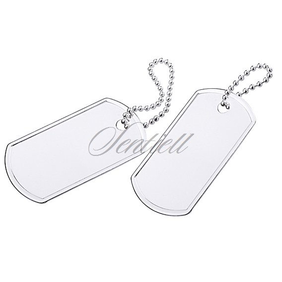 Silver (925) Military tag