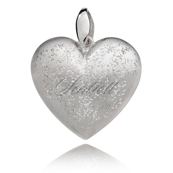 Silver (925) Pendant heart diamond cut