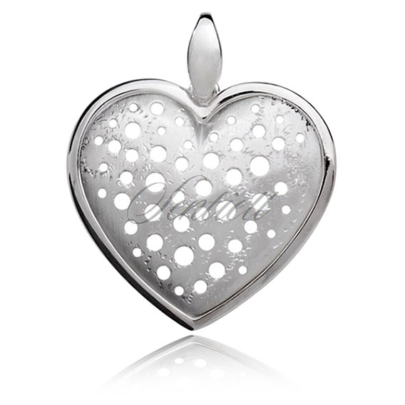 Silver (925) Pendant heart with holes