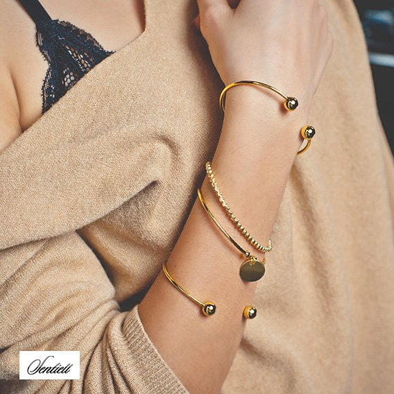 Silver (925) bracelet, gold-plated