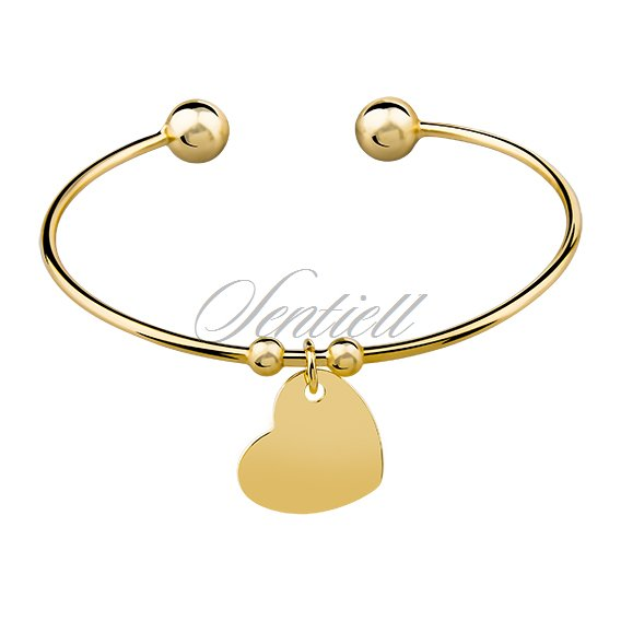 Silver (925) bracelet gold-plated heart