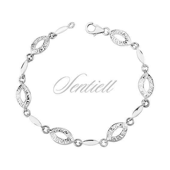 Silver (925) bracelet greek pattern