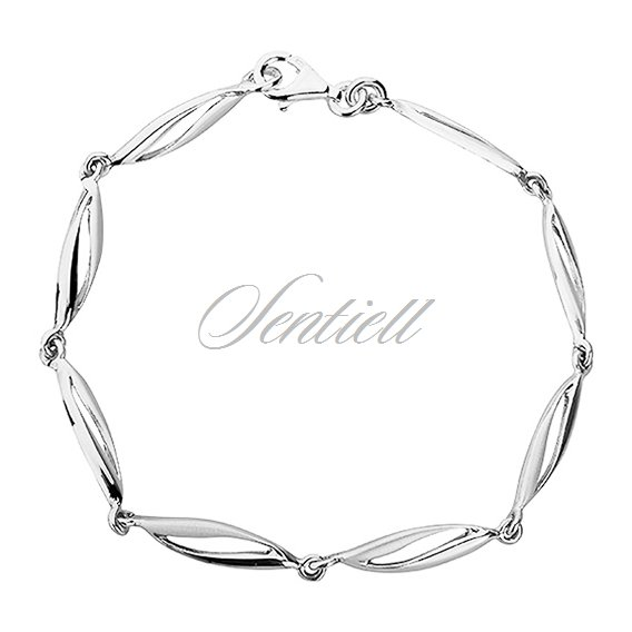 Silver (925) bracelet  high polished with satin