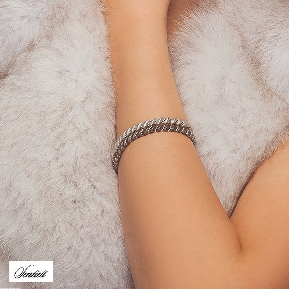 Silver (925) bracelet rhodium-plated
