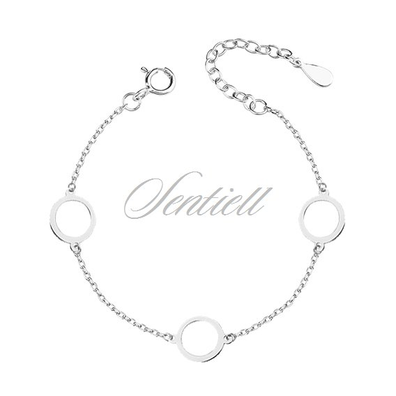 Silver (925) bracelet  - three circles