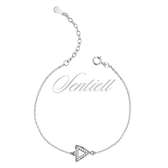Silver (925) bracelet - triangle with zirconia