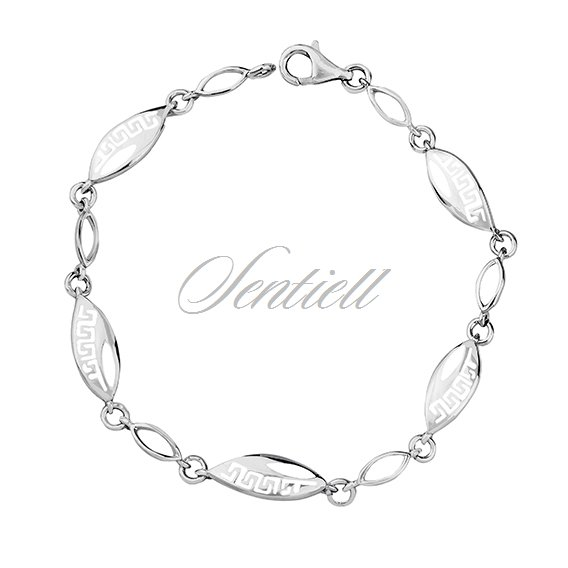 Silver (925) bracelet with Greek pattern