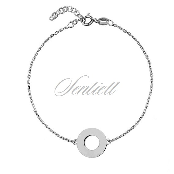 Silver (925) bracelet with cricle pendant