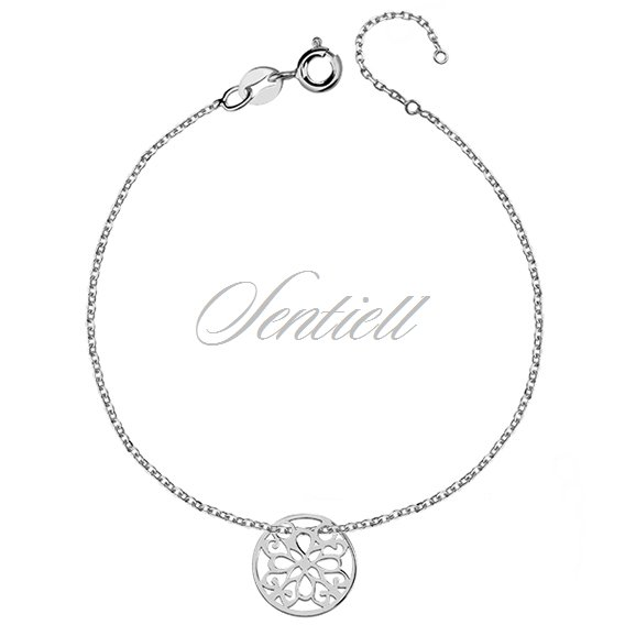 Silver (925) bracelet with open-work cirlce