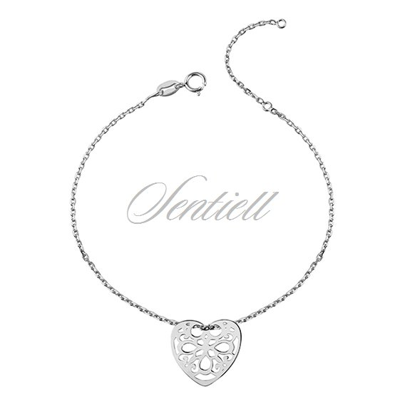 Silver (925) bracelet with open-work heart