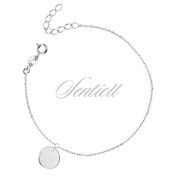 Silver (925) bracelet with round pendant