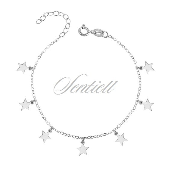 Silver (925) bracelet with star pendants