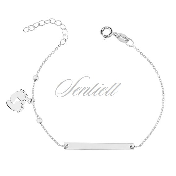 Silver (925) bracelet with tag - little feets