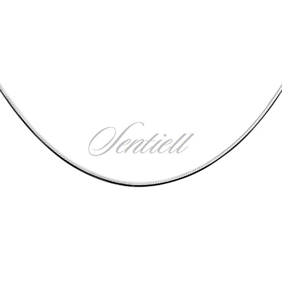 Silver (925) chain 8 sides snake  Ø 020 - rhodium plated