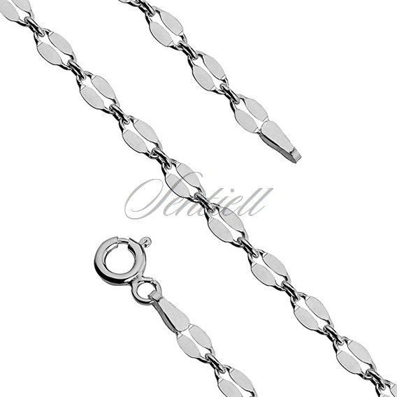 Silver (925) chain bracelet  coffee Ø 060