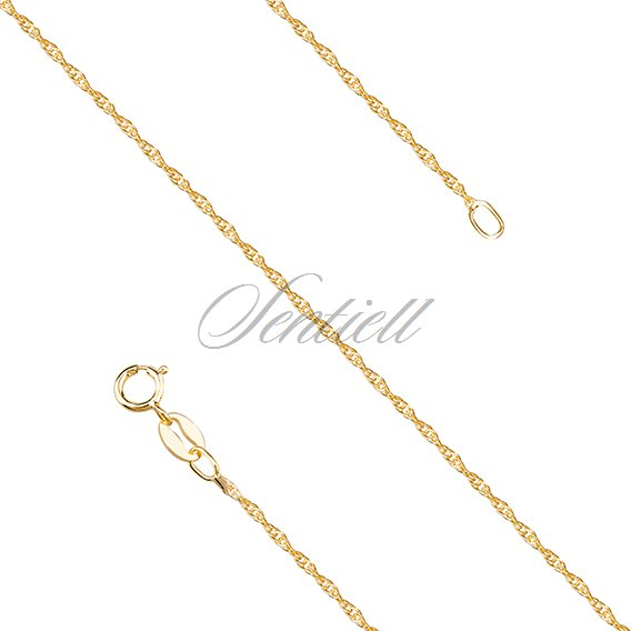 Silver (925) chain loose rope, gold-plated