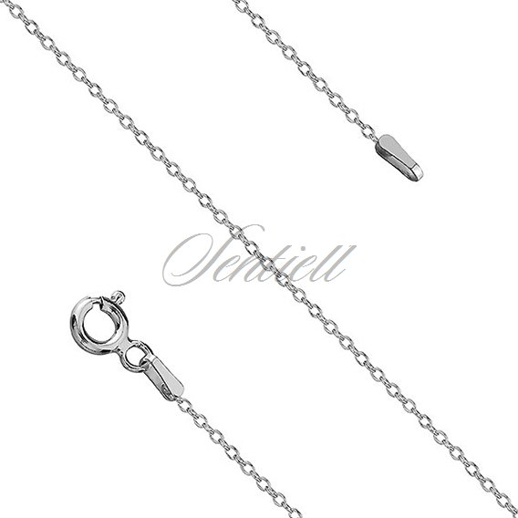 Silver (925) chain necklace Rolo Oval rhodium plated