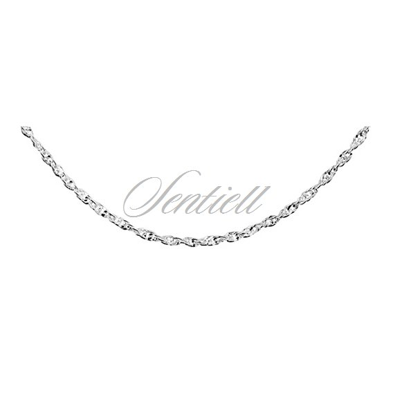 Silver (925) chain necklace Singapur diamond cut chain Ø 050