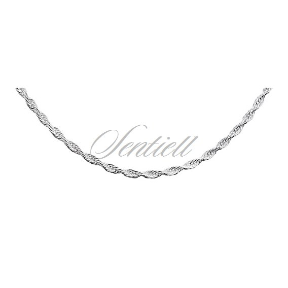 Silver (925) chain necklace  - triple anchor  Ø 040
