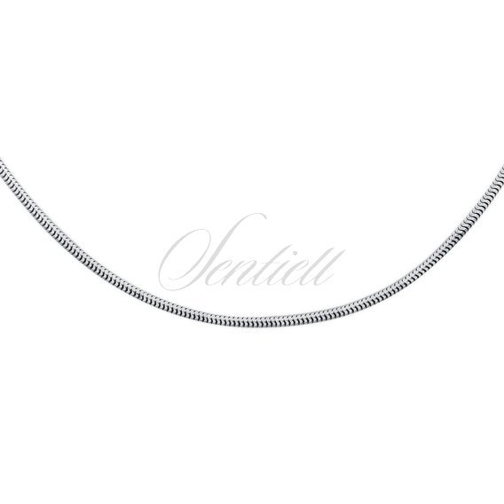 Silver (925) chain real snake  Ø 0140 rhodium-plated