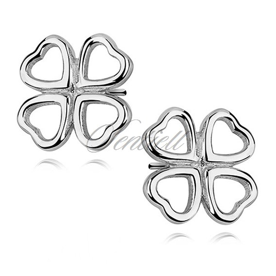 Silver (925) clover shape earrings