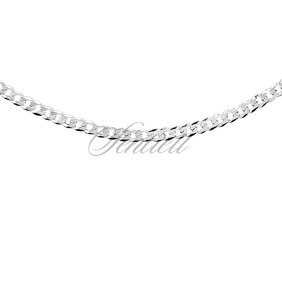 Silver (925) diamond-cut chain - curb extra flat Ø 080 weight from 5,8g