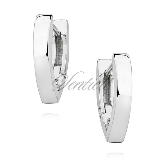 Silver (925) earrings V shaped