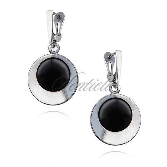 Silver (925) earrings Onyx