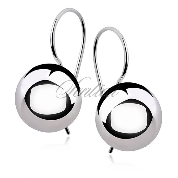 Silver (925) earrings balls 14mm