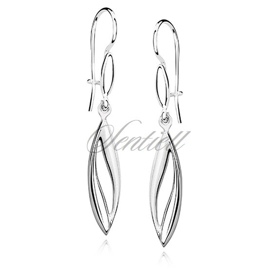 Silver (925) earrings elegant satin and high polished