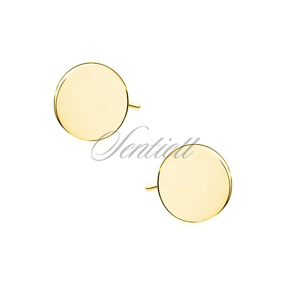 Silver (925) earrings - gold-plated circles