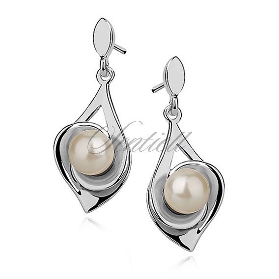 Silver (925) earrings - pearl